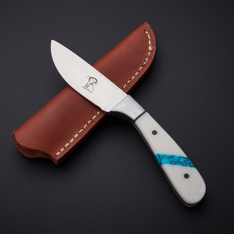 Nueces Skinner // White + Turquoise
