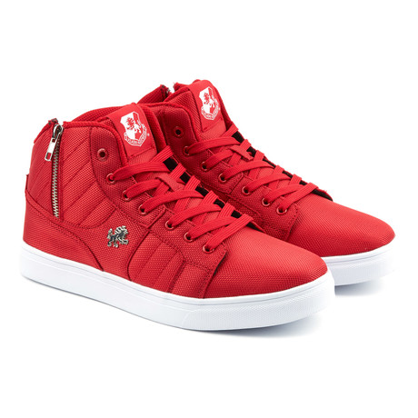 Midas Mid Sneaker // Red + White (US: 7)