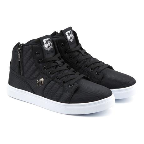 Midas Mid Sneaker // Black + White (US: 7)