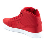 Midas Mid Sneaker // Red + White (US: 10.5)