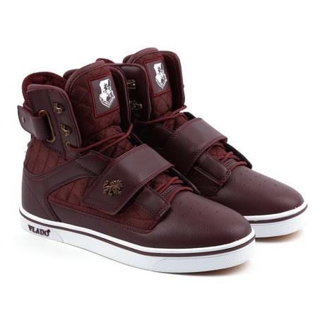 Atlas Sneaker // Burgandy + White