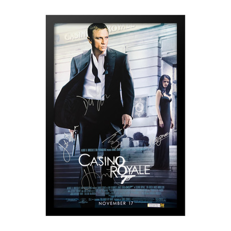 Casino Royale // Cast Signed Poster