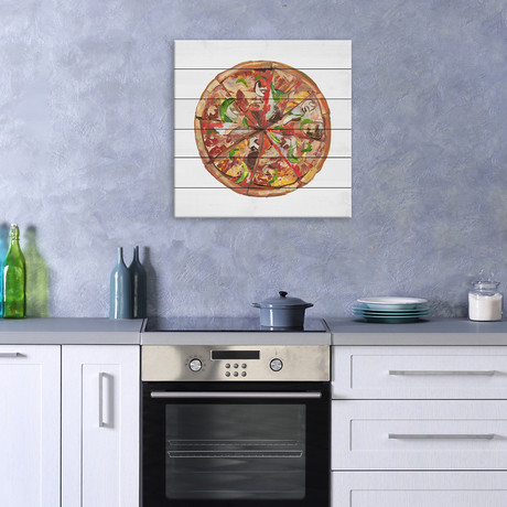Ultimate Pizza // White Wood