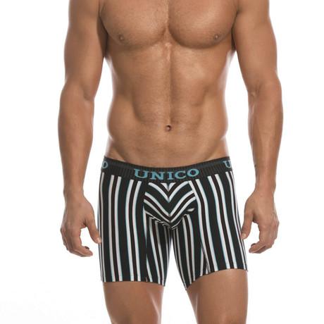 Striped Mundo Boxer Brief // Black + White