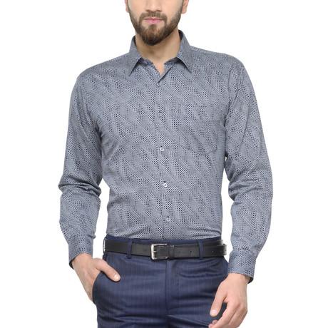 Como Dress Shirt // Grey + Navy