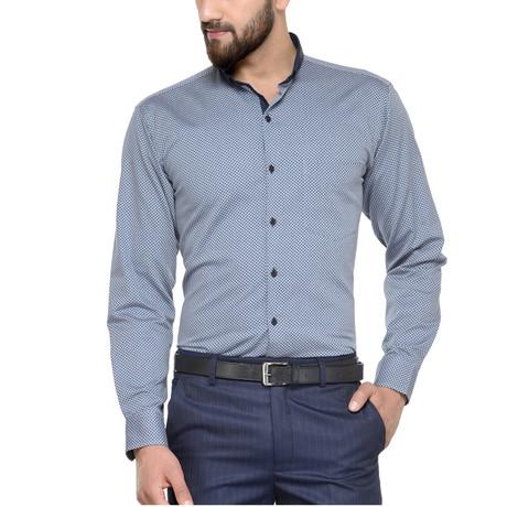 Carpi Dress Shirt // Grey + Navy