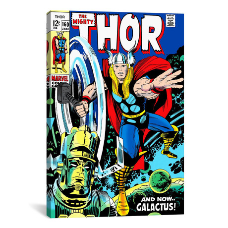 "Marvel Comics // Thor Issue Cover #160 (18""W x 26""H x 0.75""D)"