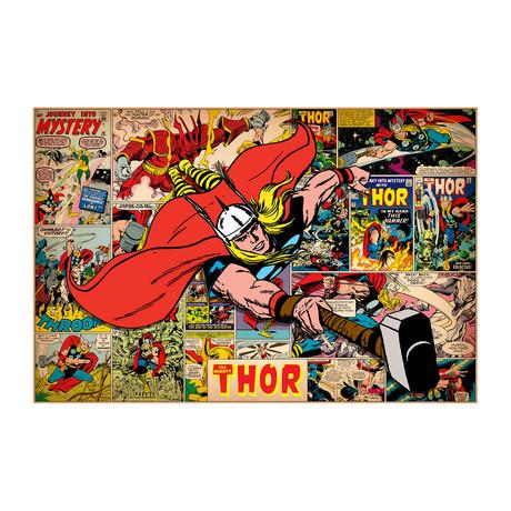 """Marvel Comics // Thor // Covers + Panels (26""""W x 18""""H x 0.75""""D)"""