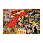 "Marvel Comics // Thor // Covers + Panels (26""W x 18""H x 0.75""D)"