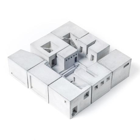 Miniature Concrete Homes // Complete Set