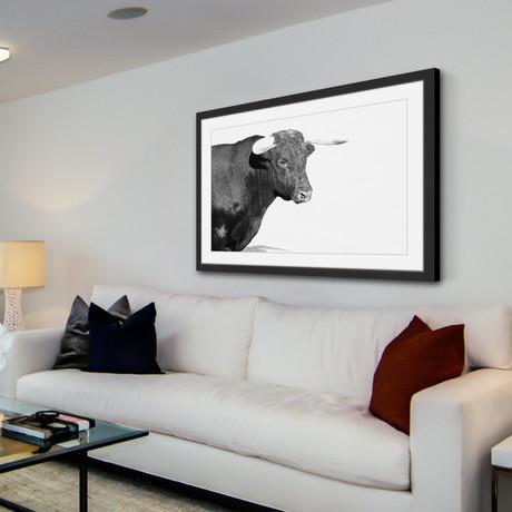 "Horned Beast // Framed Painting Print (18""W x 12""H x 1.5""D)"