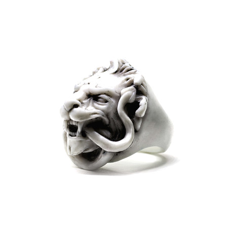 White Lion Ring (Size: 5)