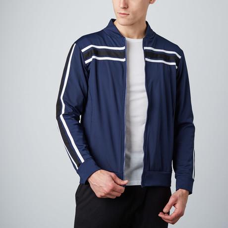 Track Jacket // Navy Blue + Grey