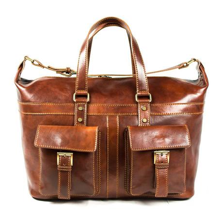 Forli Front Pocket Travel Bag // Brown