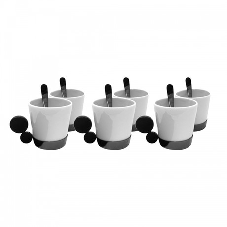Riviera Coffee Cup Set // Carbon Plated