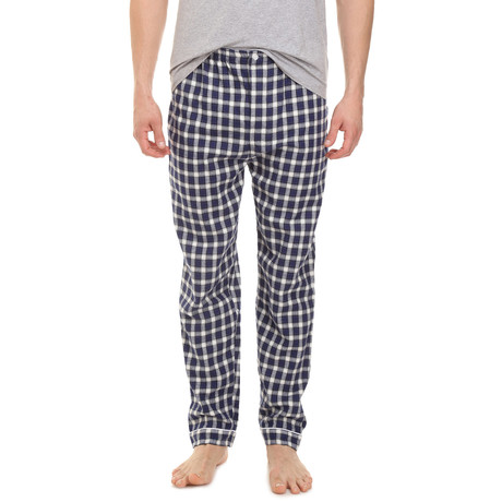 Domenico Lounge Pant // Blue + White Check