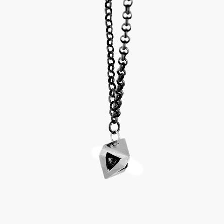 Amun Ra Pendant Necklace // Silver
