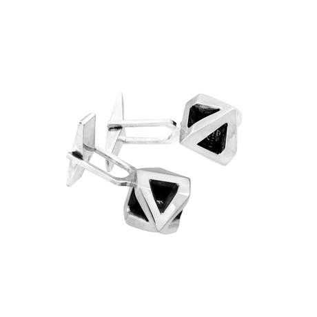 Amun Ra Silver Cufflinks