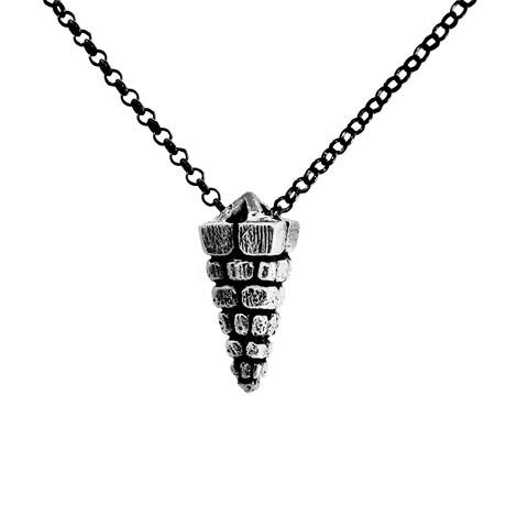 Anubis Pyramid Necklace // Silver