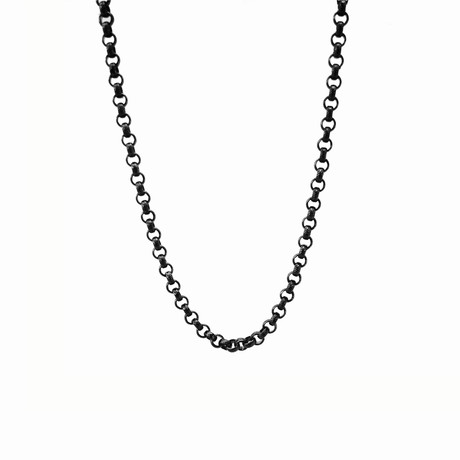 Classic Clutch Necklace // Black Rhodium