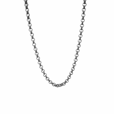 Classic Clutch Necklace // Silver