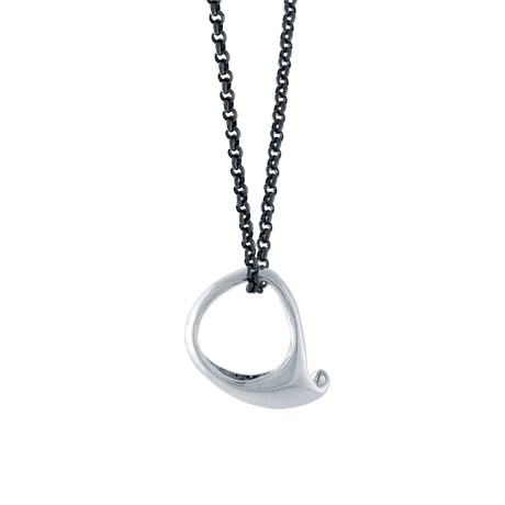 Coro Wave Ring Necklace // Silver