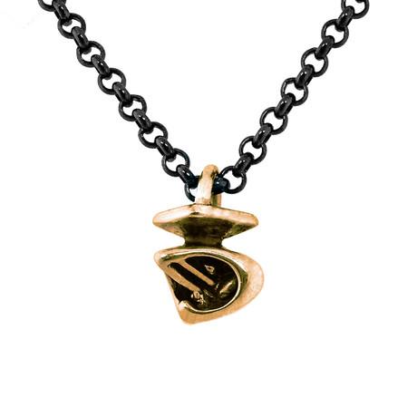 Horus Falcon Necklace // Brass