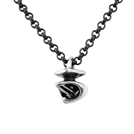 Horus Falcon Necklace // Silver