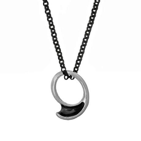 Izapa Wave Ring Pendant Necklace // Silver