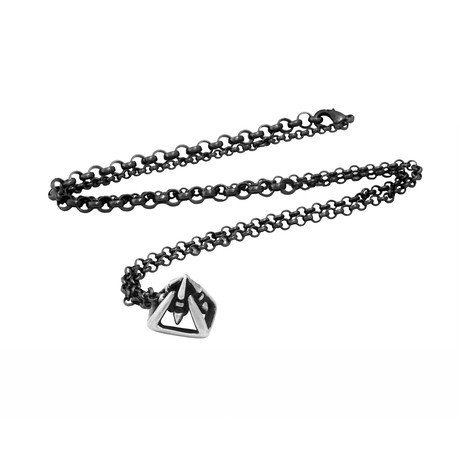 Nemes All Seeing Eye Pendant Necklace // Silver