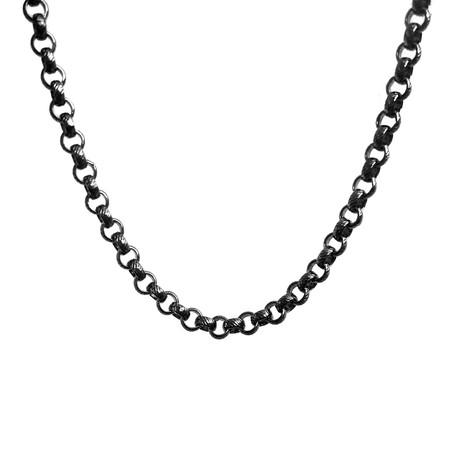 Signature Clutch Necklace // Black Rhodium