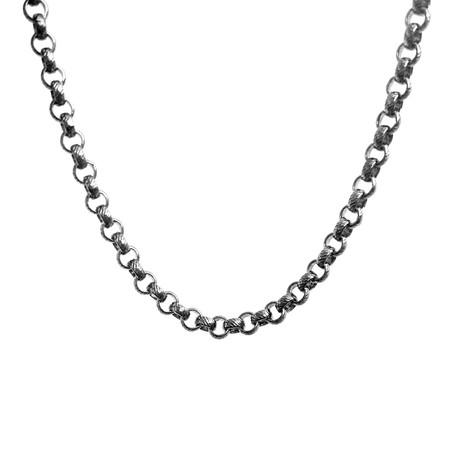 Signature Clutch Necklace // Silver