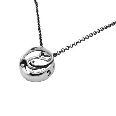 Splash Cap Necklace // Silver