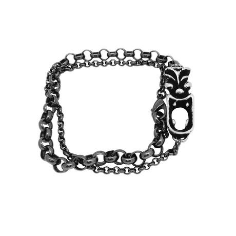 Tasman Tiki Chain Wrap Bracelet // Silver