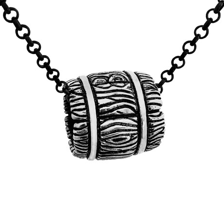 Whiskey Barrel Necklace // Silver