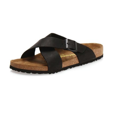 Cross Sandal // Black (Euro: 35)