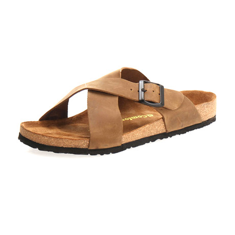 Cross Sandal // Sand (Euro: 40)