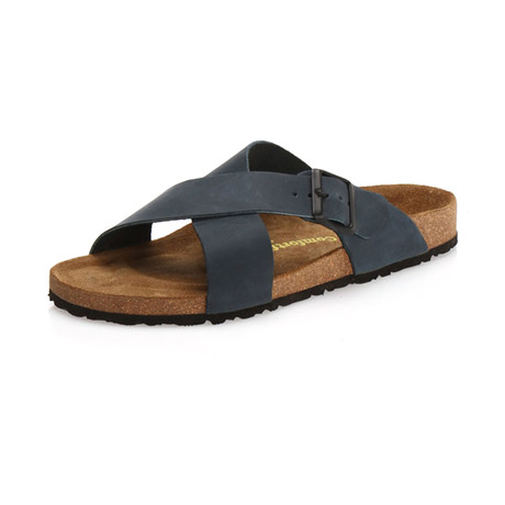 Cross Sandal // Navy (Euro: 40)