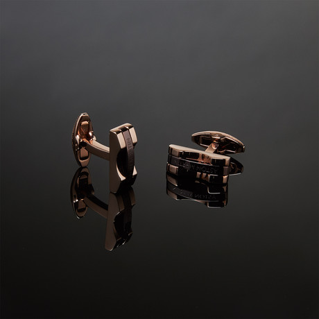 Aston Martin Flat Cufflinks // Rose Gold