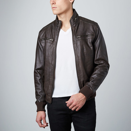 Modern Bomber Jacket // Brown
