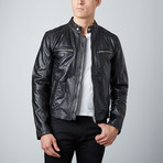 Modern Biker Jacket // Black (S)