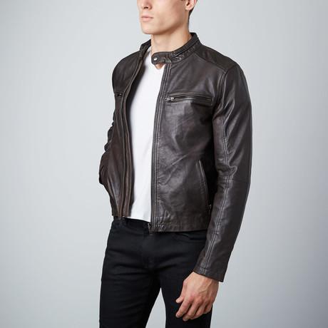Modern Biker Jacket // Dark Brown