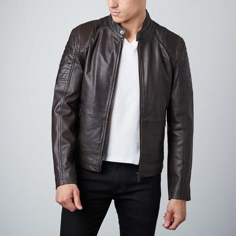 Classic Biker Jacket // Brown