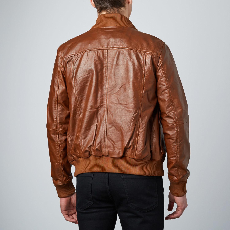 old school bomber jacket tan s barney taylor. Black Bedroom Furniture Sets. Home Design Ideas