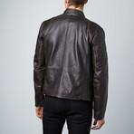 Classic Biker Jacket // Brown (S)