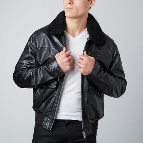Classic Oversized Flight Jacket // Black (S)