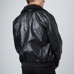 Classic Oversized Flight Jacket // Black (S)