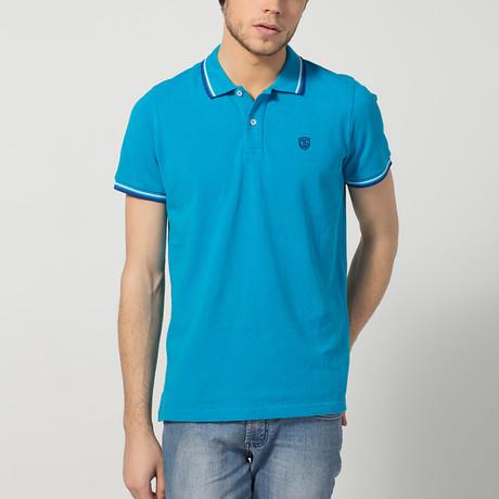 Mario Short-Sleeve Polo // Turquoise