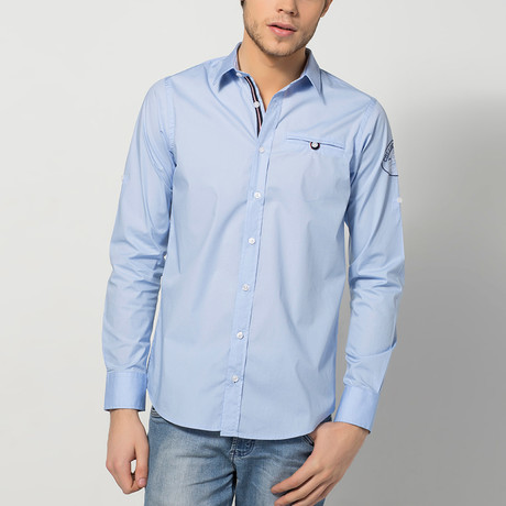 Jerome Long-Sleeve Shirt // Light Blue         (2XL)