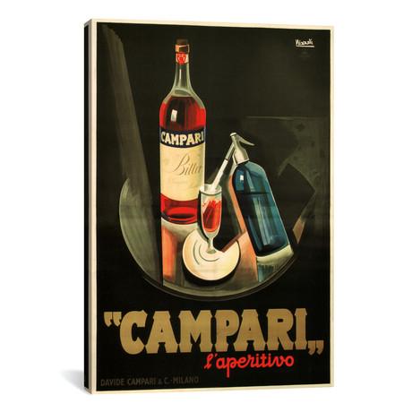 """Campari Aperitivo Advertising Vintage Poster // Marcello Nizzoli (12""""W x 18""""H x 0.75""""D)"""